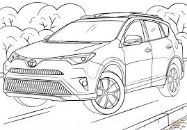 toyota rav4 coloring page free printable coloring pages