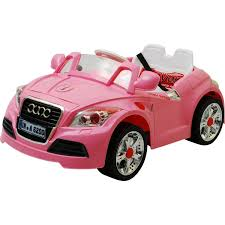 pink cars 12v twin motors audi tt style rechargeable kids ride on car