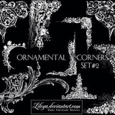 ornamental corners set 2 photoshop brushes photoshop brushes free