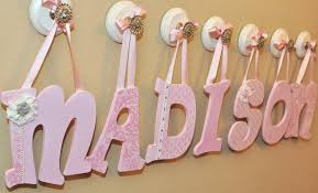 Letter Decorations For Nursery Painted Wooden Nursery Letters Custom Baby Nursery Decor