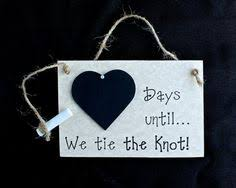 appropriate engagement gift engagement gift countdown chalkboard personalised wedding plaque
