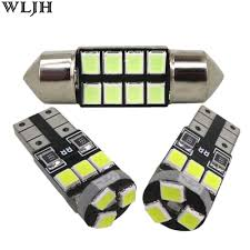 License Plate Map Wljh 6x Car Led 2835 Smd W5w T10 Lamp Bulb Interior Light Dome Map