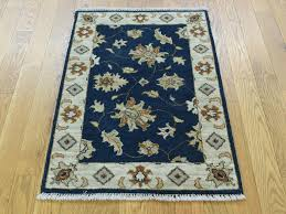 2 u0027x3 u0027 hand knotted pure wool mahal floral navy blue oriental rug