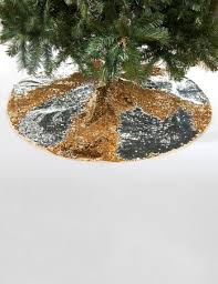 gold and silver reversible sequin tree skirt stage stores