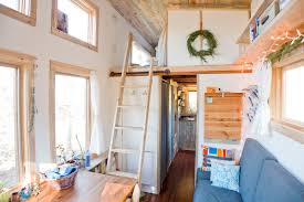 tumbleweed homes interior aluminum tiny house on wheels with sliding loft glass loft solar