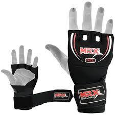 mma neoprene gel wrap gloves with boxing hand wraps