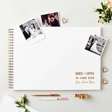 large wedding guest book personalised large wedding guest book by martha brook