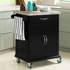 sobuy wood kitchen cabinet kitchen cart trolley with rubber