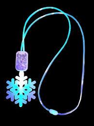 frozen necklace snowflake glow lanyard light up