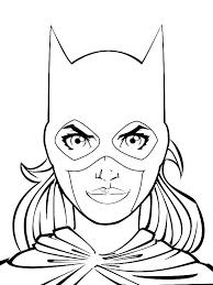 batgirl coloring pages kids printable ecordura