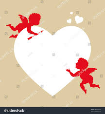 sweet cupid greetings card valentines day stock vector 69329182