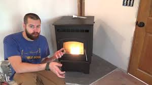 Corn Furnace Heating A Tiny House With A Pellet Stove Youtube