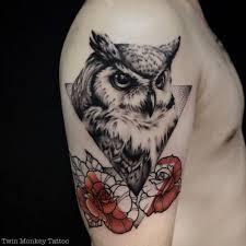 Owl Tattoos - 21 best geometric owl images on owl tattoos