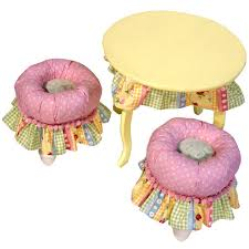 tea party table and chairs tea party table and tuffet set and luxury kid furnishings including