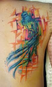 quetzal watercolor tattoo quetzal tattoo watercolour tattoos