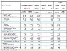 House Building Cost Spreadsheet by Budgeting For A Remodeling Project Braitman Design Studio