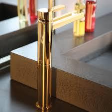 polished gold modern bathroom faucet