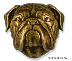 bronze bulldog door knocker