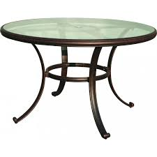 Ultimate Patio Furniture by Darlee Classic 48 Inch Cast Aluminum Patio Dining Table With Glass