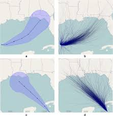 visualization of the week forecasting claim general public can t read hurricane forecast tracks watts