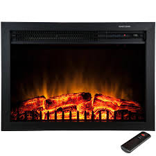 akdy 23 in freestanding electric fireplace insert heater in black
