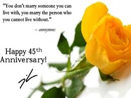 45 wedding anniversary 45th wedding anniversary quotes tbrb