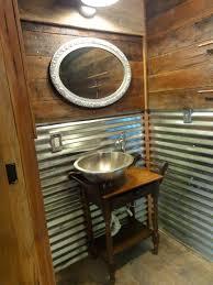 Small Rustic Bathroom Ideas - small half bath ideas rustic tin bathroom sink vanities small