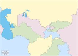 Map Of Central Asia Central Asia Free Map Free Blank Map Free Outline Map Free