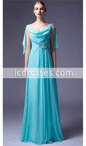 sale v neckline back shawl chiffon long prom dresses beaded