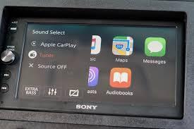 nissan sentra apple carplay review sony u0027s xav ax100 carplay receiver pairs tasteful design
