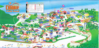 Six Flags New England Park Map Canobie Lake Park 2013 Park Map