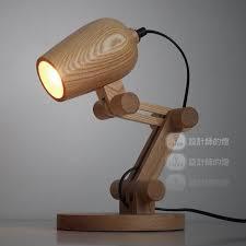 desk l light bulbs loft edison bulbs wooden shade handmade wood led night table l