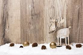 christmas decoration with wood background snow elk christmas
