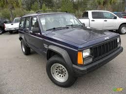 dark blue jeep dark montego blue pearl 1995 jeep cherokee sport exterior photo