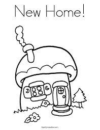 new home coloring page twisty noodle