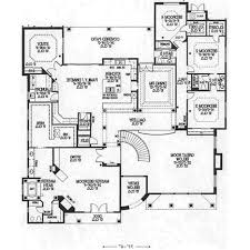 floor plan open one story house plans black white futuristic