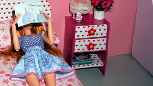 Pink Nightstand Side Table How To Make A Bedside Table Or Nightstand For Dolls Miniature
