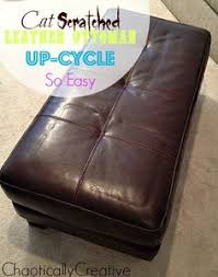 Reupholster Leather Ottoman Reupholstered Ottoman Tutorial I This Idea I A