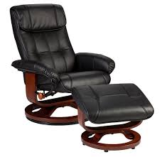 Black Chair With Ottoman Holly U0026 Martin Bryce Euro Style Recliner And Ottoman In Black