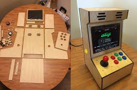 Tabletop Arcade Cabinet Bartop Arcade Honors Aspect With 4 3 Ipad Screen Hackaday