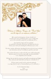 indian wedding program template wedding programs and program wording templates by culture