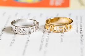 Wedding Wishes Letter For Best Friend Wish Gold Bestfriend Spelling Ring Best Friend Ring Best Friends
