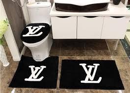 Black Bathroom Rug Louis Vuitton Black Bathroom Rug All About Rugs
