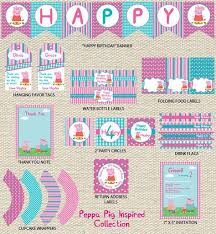 peppa pig party supplies peppa pig birthday printables buscar con adelies 4th