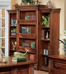 Lawyers Bookcase Country Cherry Lawyer U0027s Bookcase With Right And Left Sides By