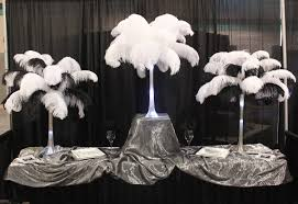 ostrich feather centerpieces 18 ostrich feathers 12 set with 20 eiffel tower vase