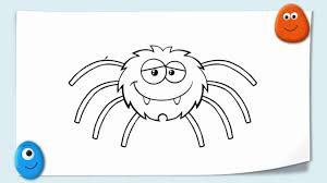 funny cartoon animal doodles drawing a cute spider and snail