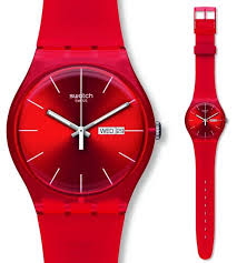 red swatch swatch red rebel watch suor701 44 50 from timewatchshop free
