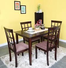 Nilkamal Kitchen Furniture Home By Nilkamal Trivia Solid Wood 4 Seater Dining Set Buy Home