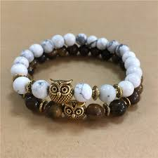 bracelet natural stone images New retro lava stone buddha natural stone beads owl pendant beaded jpg